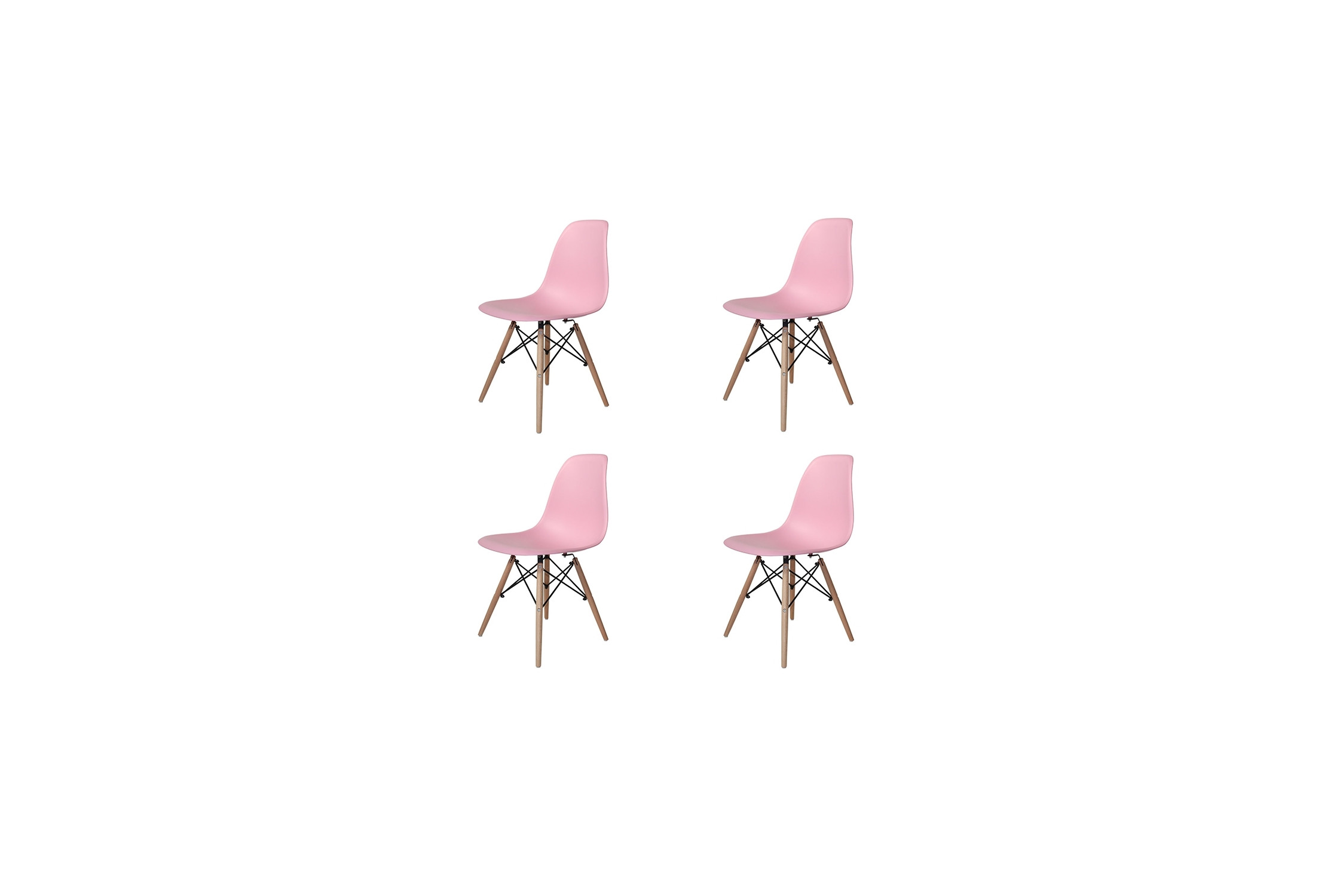 PACK 4 SILLAS TOWER WOOD ROSAS EXTRA QUALITY