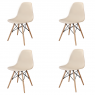 PACK 4 CHAISES TOWER WOOD SABLE EXTRA QUALITY