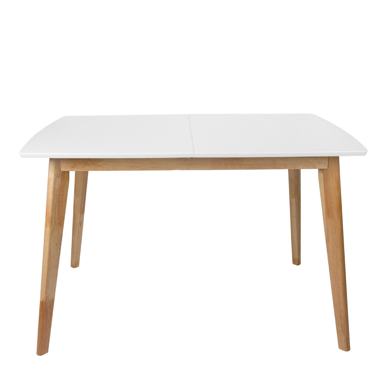 Table nordique extensible table blanche en bois extensible for Mesas comedor extensibles modernas baratas