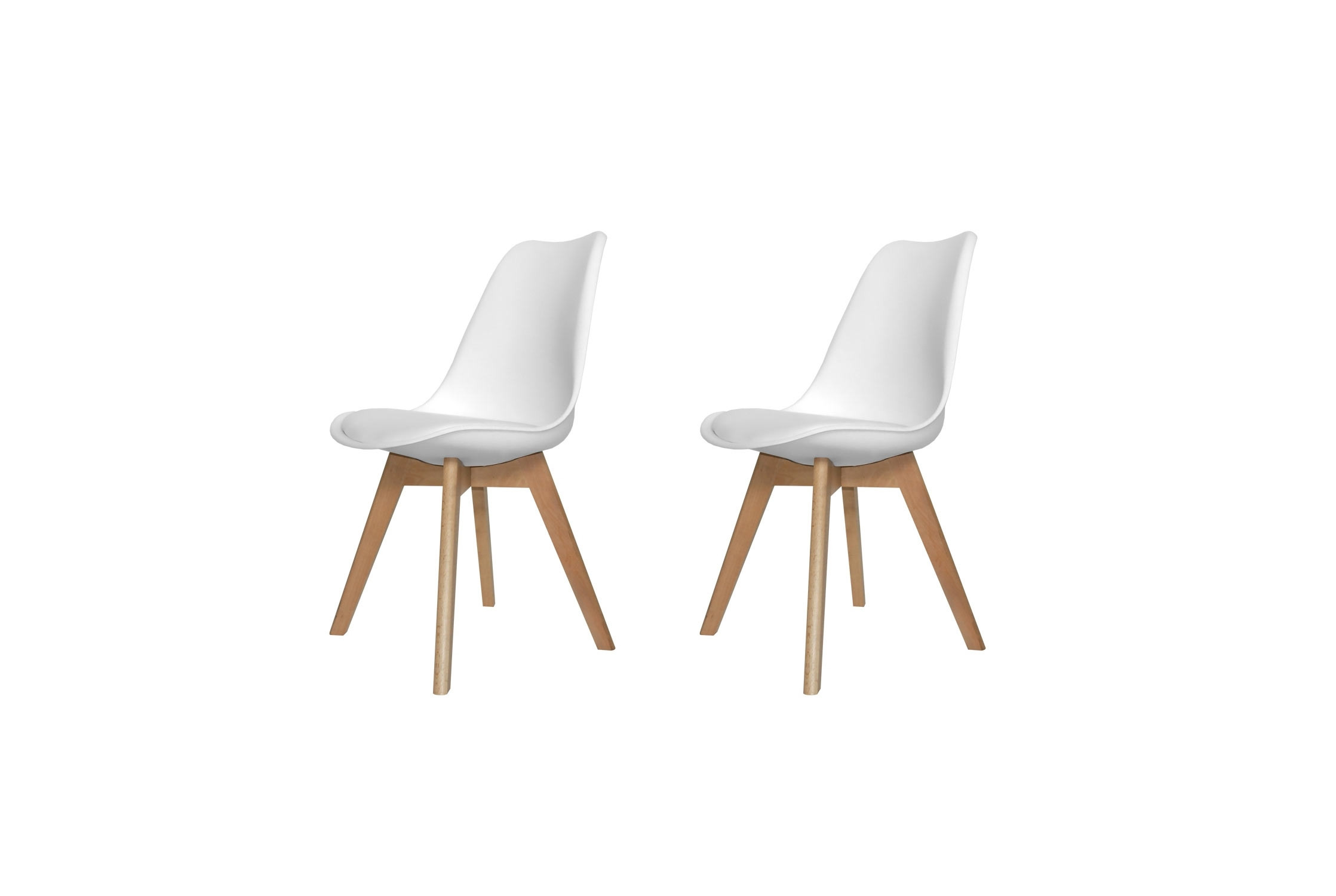 PACK 2 SILLAS NEW TOWER WOOD BLANCAS