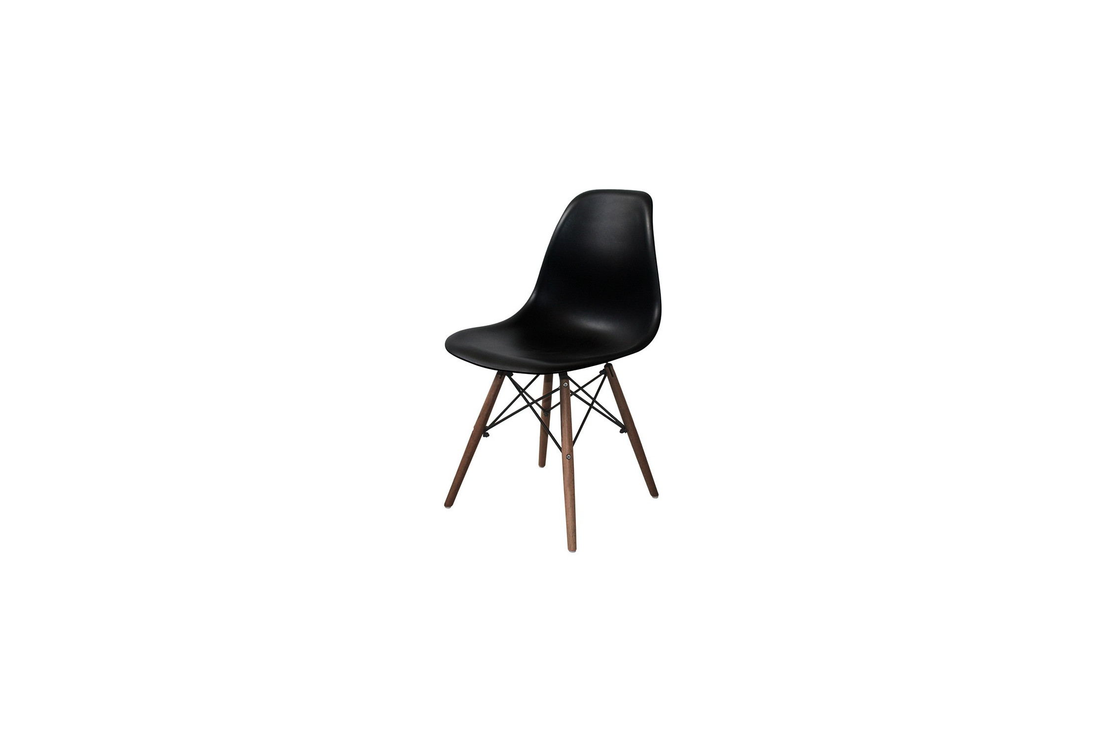 SILLA TOWER WOOD NEGRA PATAS WENGUÉ EXTRA QUALITY