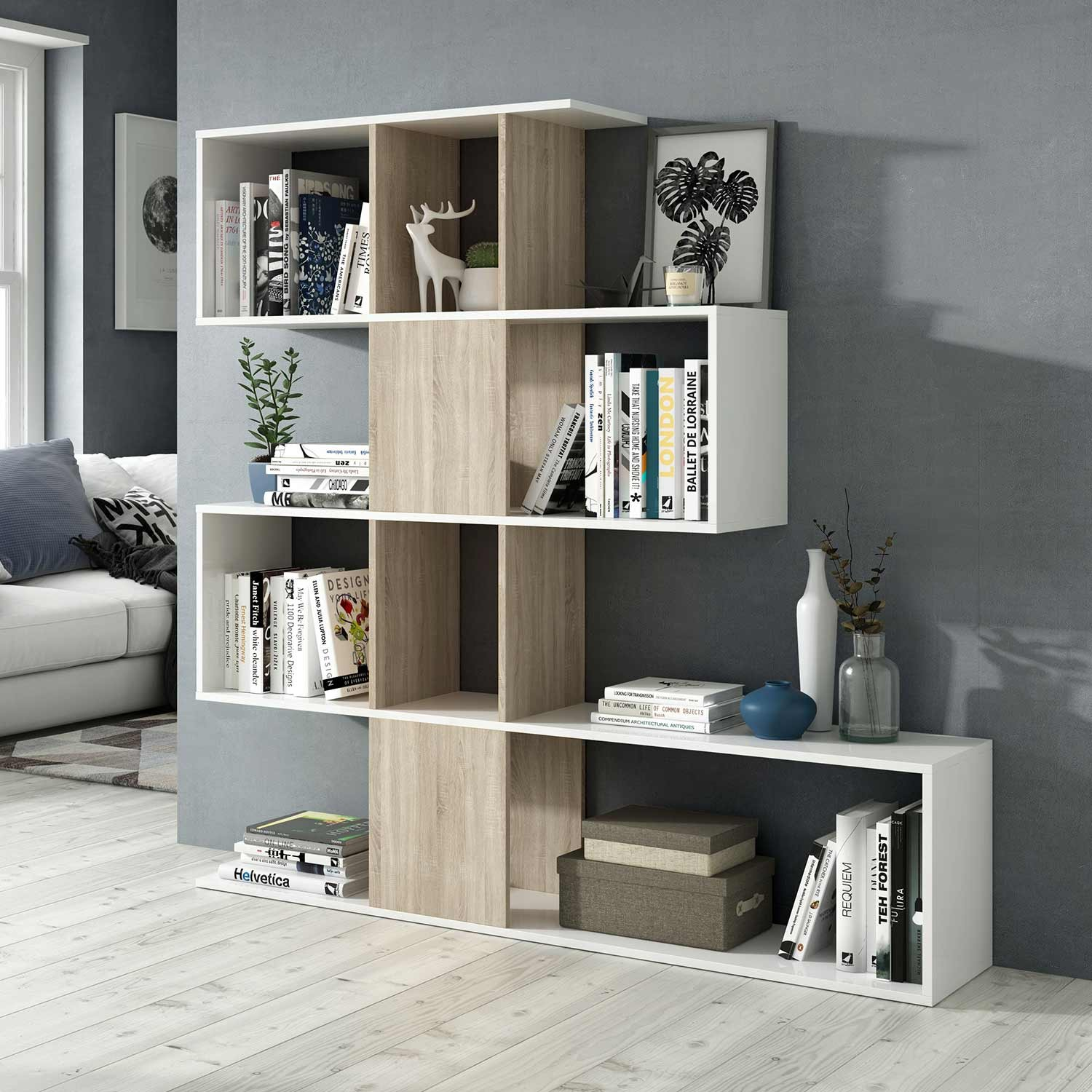 tag re zig zag en bois et blanc. Black Bedroom Furniture Sets. Home Design Ideas